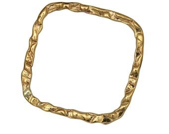Gold Filled Hammered Square Link 20 mm  5pcs, 10pcs, 25pcs Item# (HL202611)