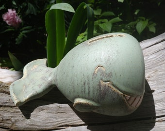 Handmade Ceramic Whale Piggy Bank