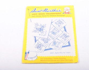 Days of The Week, Aunt Martha's, Hot Iron Transfers, Embroidery, Arts, Crafts, Butterflies for Linens ~ The Pink Room ~ 170101
