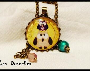 Necklace - OWL Couple-