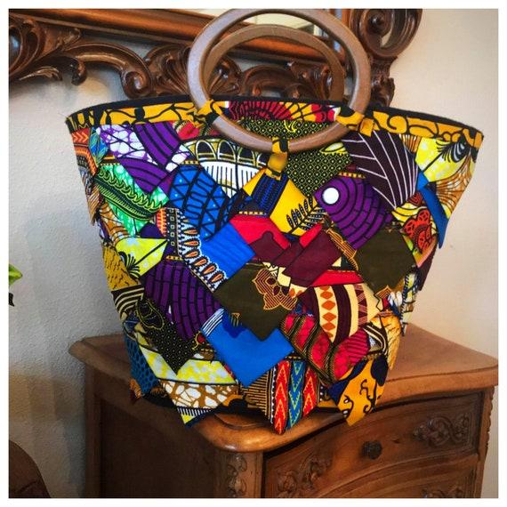 Ankara patchwork bag
