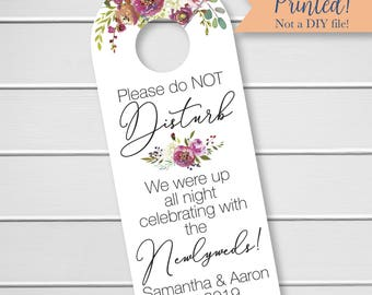 Penelope - Please Do Not Disturb Wedding Door Hanger, Wedding Welcome Bag Door Hanger, Hotel Door Hangers  (DH-379)