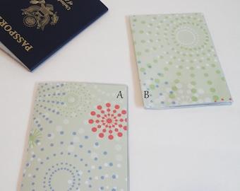 US Passport Cover, Passport  Sleeve, Case, Holder, Pale Green Background Dot Circles