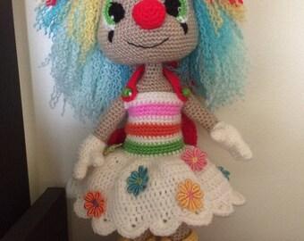 Crochet Miss clown (Amigurumi)