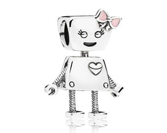 Authentic Pandora Bella Bot Pink Enamel Charm #797141EN160