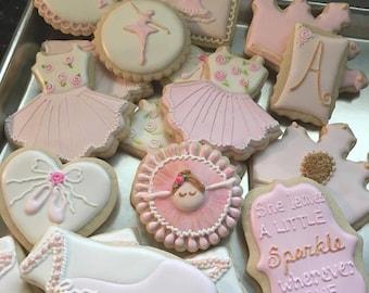 12 Assorted Ballerina Cookies