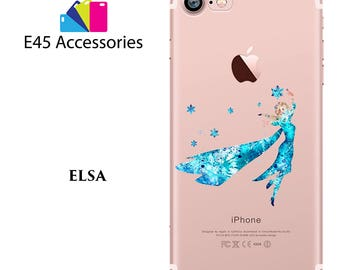 ELSA Disney Watercolour Hard Case for iPhone 5S 5 SE, iPhone 6S 6 or iPhone 7