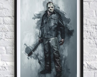 Friday the 13th - Jason Voorhees  'Watercolor' A4 Print