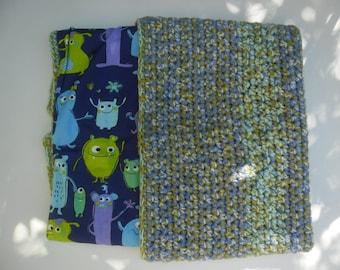 """Funny monsters"" crocheted baby blanket"