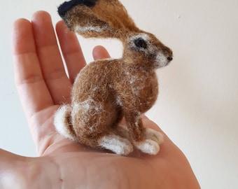 Needle Felted European Hare