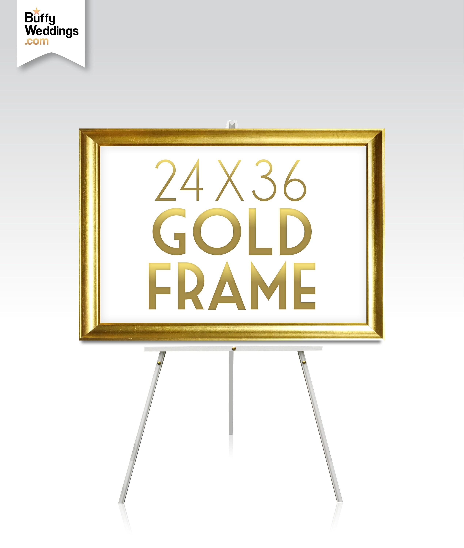 24 x 36 große GOLDRAHMEN. Massivem Ahorn Holz Rose Gold