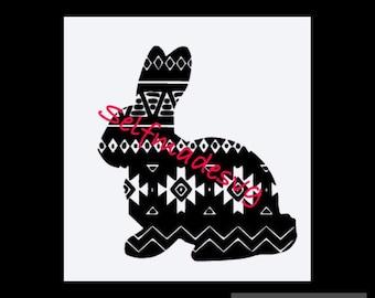 Aztec easter bunny svg