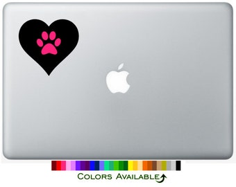 Paw Heart Laptop Decal