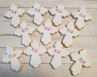 Baptism Sugar Cookies, Cross Sugar Cookies