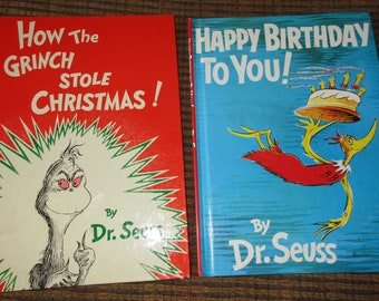 Dr. Seuss ~ YOUR CHOICE ~ Happy Birthday to You OR How the Grinch Stole Christmas ~ 80's-90's oversize issues