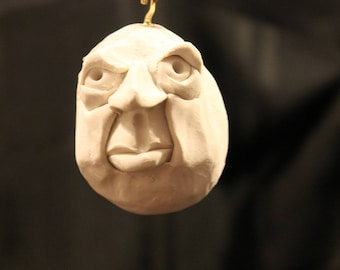One of a kind Egg Head ornament