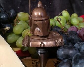 Star Wars,Wine bottle stopper,Bronze, Boba Fett,Wine Stopper -geek wine gift, bottle stopper, housewarming, gifts for wine lovers, Corks,