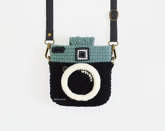 Crochet Case for Fuji Instax Camera - Lomo Camera/ Black Color