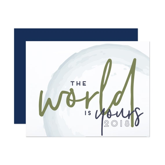 The World Is Yours - Graduation Card