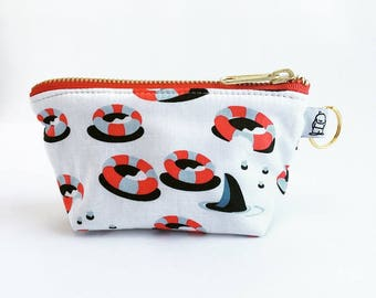 Charlie Change Purse, Change Purse, Zippered Pouch, Zippered Handbag, Fabric Accessories, Accessories,  Cosmetic Bag, Chomp
