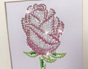 Personalised rose artwork - Mother's Day gift - birthday gift - thank you gift - everlasting flowers