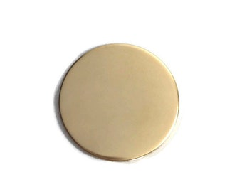 10 pack - 1/2 inch 22 Gauge GOLD FILL Round Circle Discs Jewelry Stamping Supplies