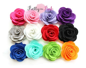 Jessica Collection Felt Rose Flower- You Choose Quantity- Diy Headband Supplies- Flower- Wholesale- Supply Shop- DIY Flower Headband Supply