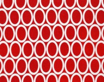 Half Yard Remix Ovals in Red, Ann Kelle for Robert Kaufman Fabrics, 100% Cotton Fabric