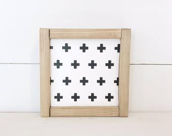 Mini Swiss Cross   Farmhouse Sign