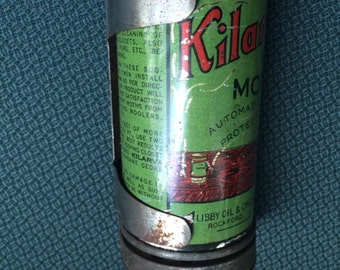 Vintage, Canister, Of KILARVA For Moths, Manufactured By Lisby Oil & Chemical Co. Rockford, IL