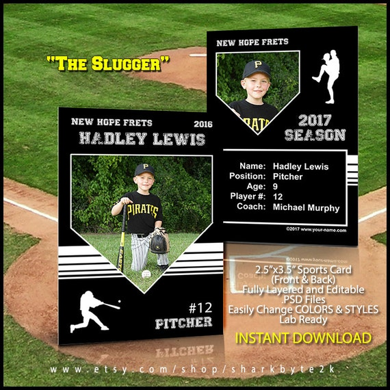 baseball card template perfect for trading cards for your. Black Bedroom Furniture Sets. Home Design Ideas