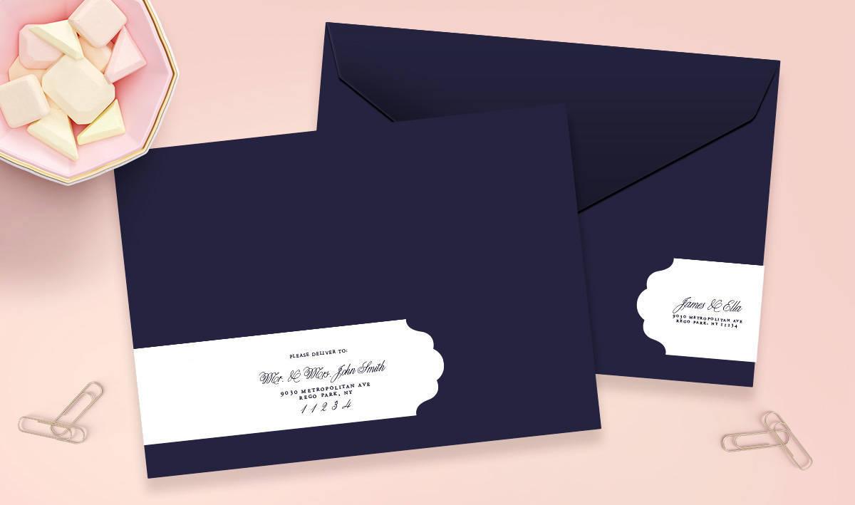 Wedding Address Labels Wrap Around Labels Address Labels