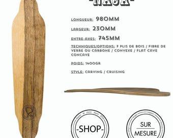 Longboard Longboard skateboard handcrafted Naja