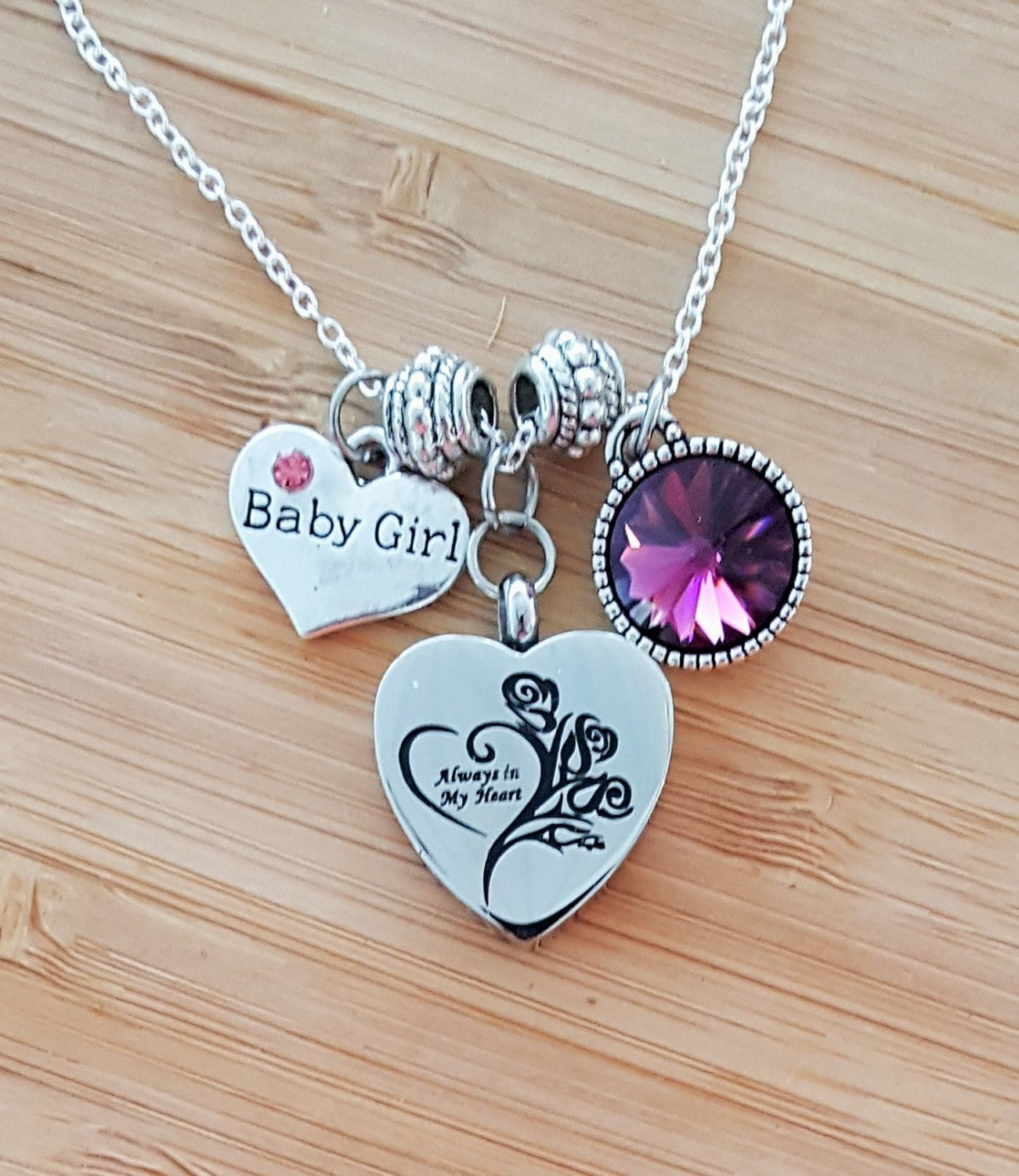one loved wings loss with gift memory ready com necklace heart grief amazon dp was were circle handmade jewelry of not your my memorial