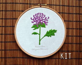 Birth Flower Kits: November Chrysanthemum