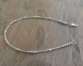 Ankle Bracelet - Sterling Silver Ankle Bracelet - Silver Ankle Bracelet