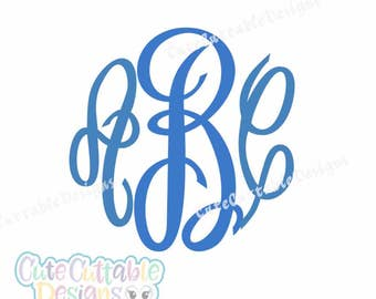 Master Circle Monogram Font SVG Cut file in SVG, Eps and Dxf. Instant downlod vector font for craft cutters like Circut and Silhouette