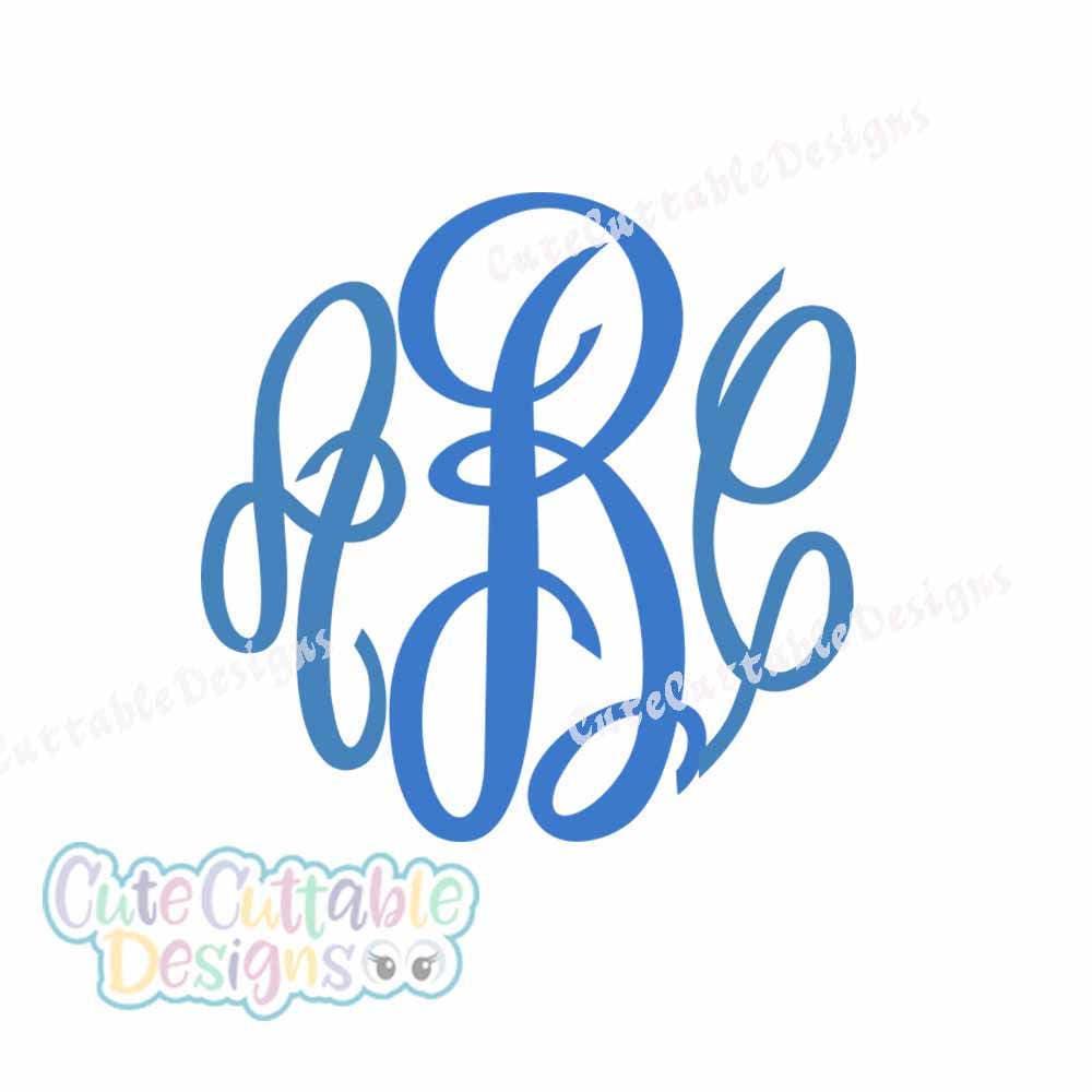 Master Circle Monogram Font Svg Cut File In Svg Eps And