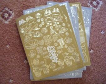 Various Layering Peeloffs Gold & Silver