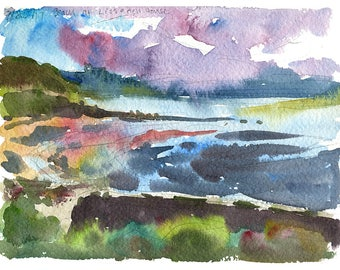 The Beach at Lissadell- limited edition Ireland print, signed and numbered, inkjet giclee on watercolor paper