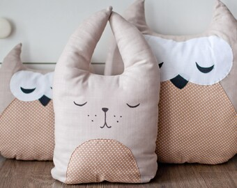 Easter rabbit Pillow rabbit Pillow Cushion Fanny pillow Decorative pillow Soft toy Kids gift idea Rabbit pillow banny Organic cotton pillow