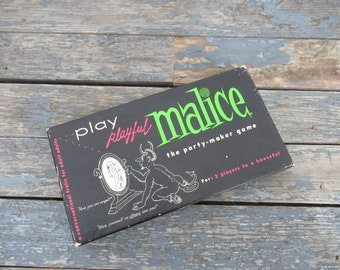 Malice, The Party Maker Game, Dinner Party Game, Retro Party Game, Cocktail Party, Adult Game