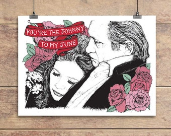Johnny Cash to my June Carter Cash - Valentine's Greeting Card