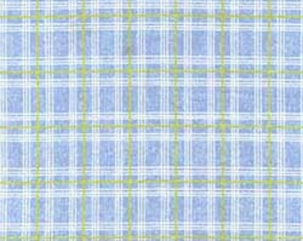 Clothworks Sunwashed Collection Blue plaid 30002-1