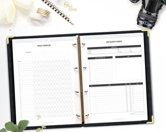Printable Photographer's Planner • Photography Business Workbook • Photography Session Planner