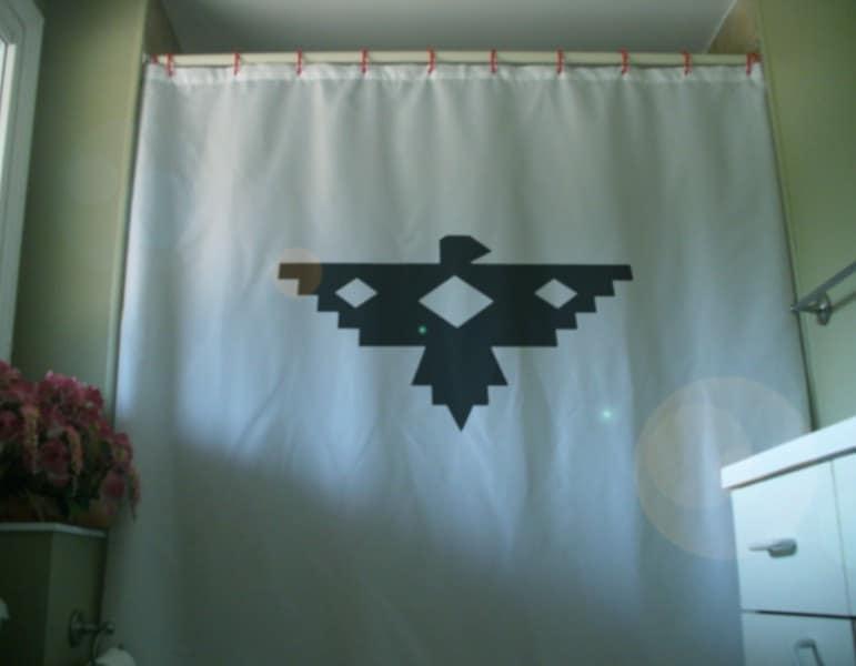 native eagle Shower Curtain design thunderbird legend art
