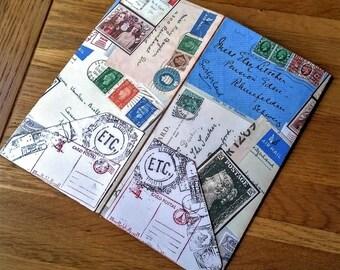 Midori Dashboard Accessory, Midori Card Pocket Dashboard Insert, TN Divider, Vintage Postal, Fauxdori insert, Traveler NB, Midori Insert