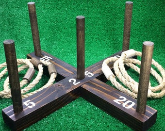 SALE: Rustic Ring Toss Outdoor Yard/Lawn Game with 6 Rings -