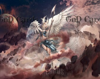 "Custom Playmat ""Archangel Gabriel"" MTG"