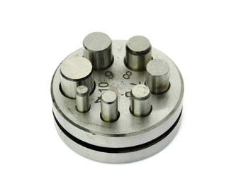 """Round Disc Cutter 1/4"""" to 1/2"""" With  Seven Punches"""